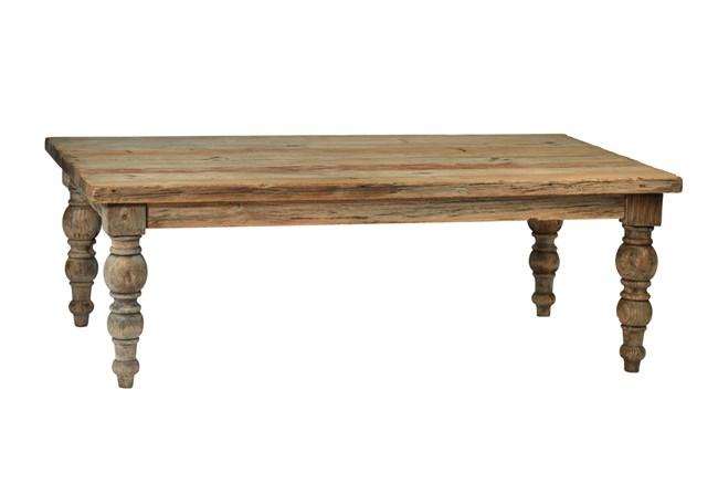 Light Brown Wood Coffee Table - 360