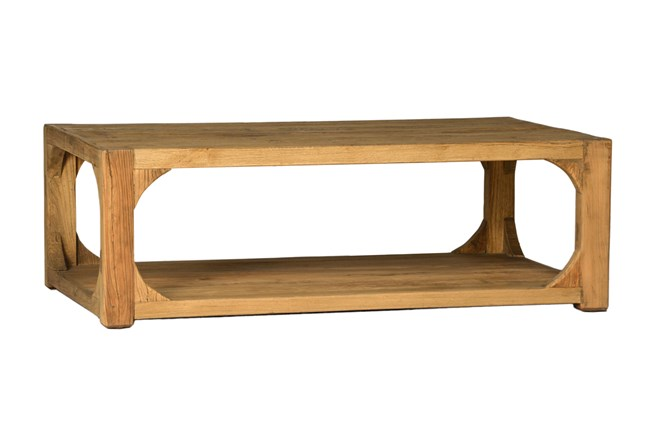 light brown reclaimed elm coffee table 360 elements - Light Colored Coffee Tables