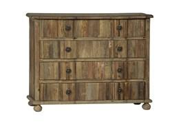 Light Stained 4-Drawer Dresser