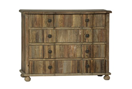 Light Stained 4-Drawer Dresser