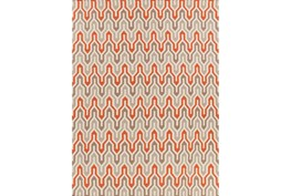 96X132 Rug-Andres Taupe/Tangerine