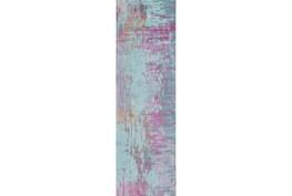 30X96 Rug-Caramella Teal/Magenta