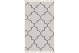 39X63 Rug-Amara Ivory/Grey W/Fringe