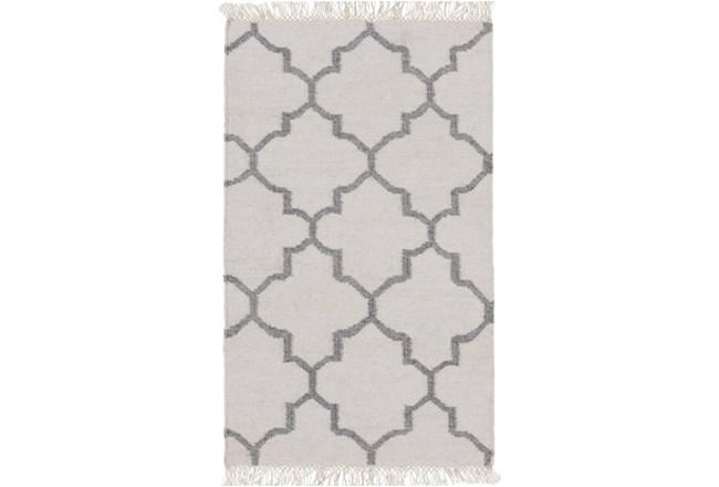 39X63 Rug-Amara Ivory/Grey W/Fringe - 360