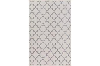 60X90 Rug-Amara Ivory/Grey W/Fringe