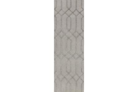 30X96 Rug-Crescent Grey