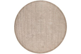 93 Inch Round Rug-Complex Taupe