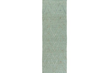 30X96 Rug-Aisha Sea Foam