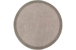 72 Inch Round Rug-Cuadro Grey