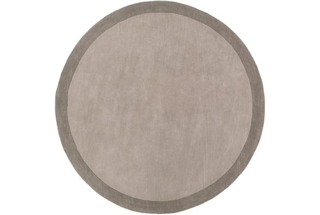 72 Inch Round Rug-Cuadro Grey - 360