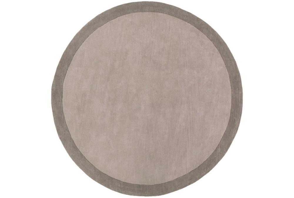 96 Inch Round Rug-Cuadro Grey