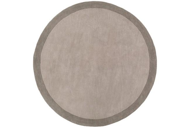 96 Inch Round Rug-Cuadro Grey - 360