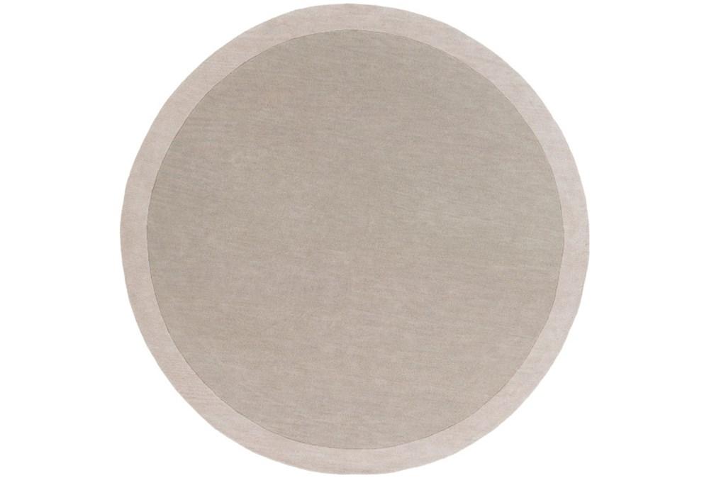 72 Inch Round Rug-Cuadro Light Grey