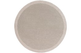 72 Inch Round Rug-Cuadro Light Grey