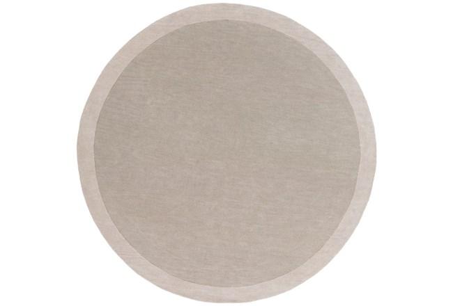 72 Inch Round Rug-Cuadro Light Grey - 360