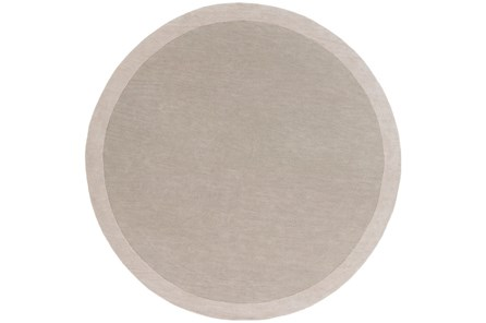 96 Inch Round Rug-Cuadro Light Grey