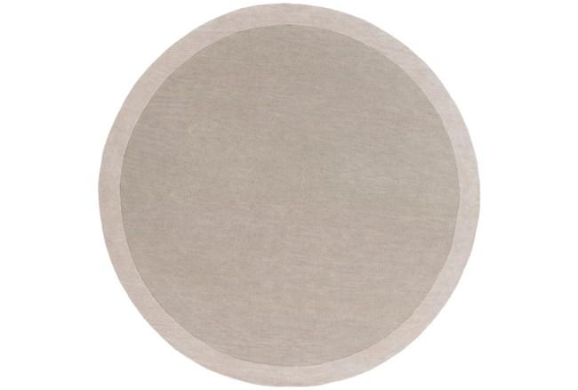 96 Inch Round Rug-Cuadro Light Grey - 360