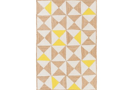 96X120 Rug-Hourglass Beige/Yellow