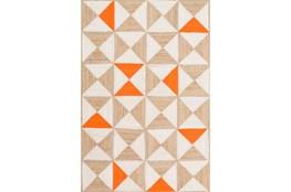 96X120 Rug-Hourglass Beige/Coral