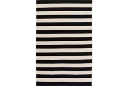 96X120 Rug-Puerto Stripe Black