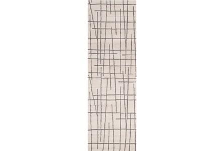 30X96 Rug-Sticks Beige/Grey