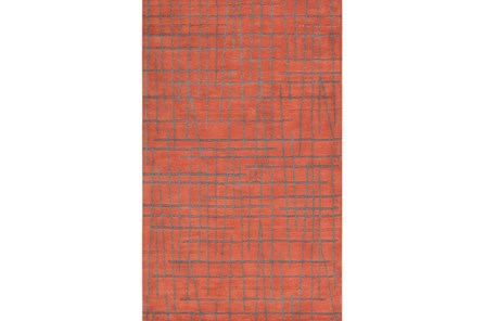 24X36 Rug-Sticks Rust/Grey