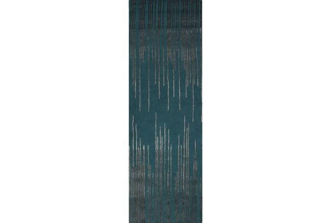 30X96 Rug-Waterval Teal - 360
