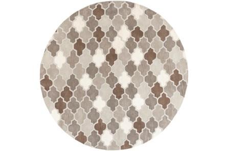 72 Inch Round Rug-Einstein Grey