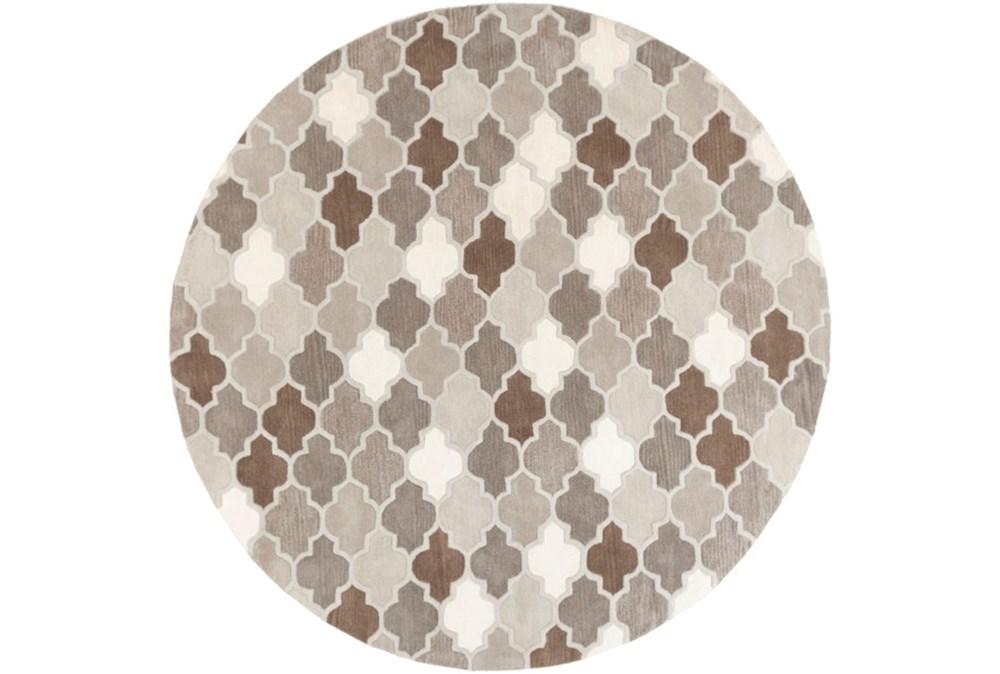 96 Inch Round Rug-Einstein Grey