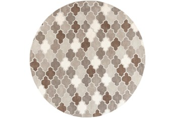 8' Round Rug-Einstein Grey