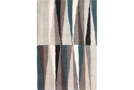39X63 Rug-Spike Grey/Black/Blue