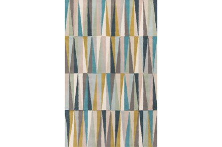 24X36 Rug-Spike Grey/Aqua/Moss - Main