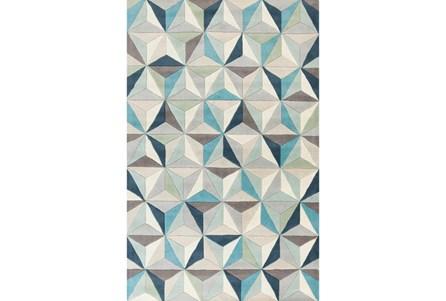 24X36 Rug-Origami Grey/Blue