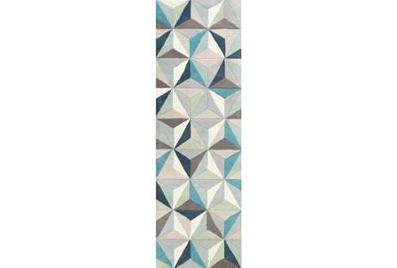 30X96 Rug-Origami Grey/Blue