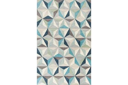 60X96 Rug-Origami Grey/Blue