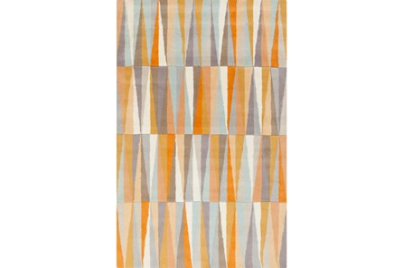 96X132 Rug-Spike Orange - Main