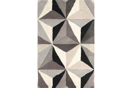 39X63 Rug-Origami Grey/Black/Taupe