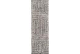 """2'5""""x8' Rug-Ranura Light Grey"""