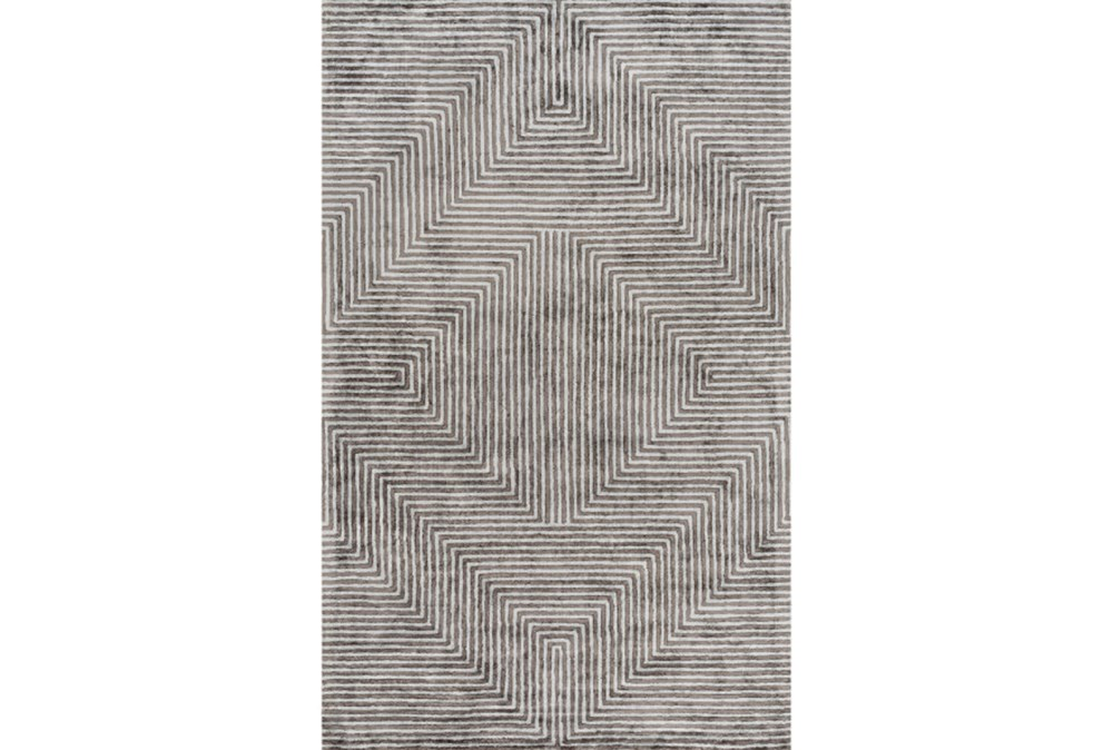 6'x9' Rug-Ranura Light Grey