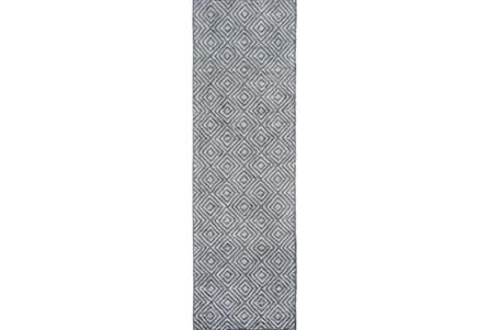 30X96 Rug-Baguette Slate