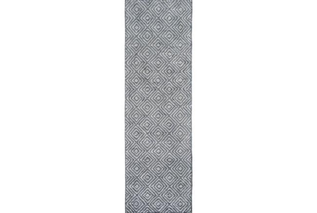 30X96 Rug-Baguette Slate - 360