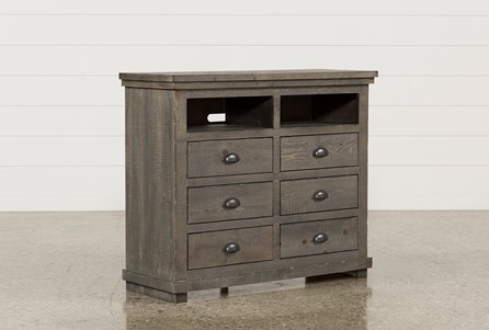 Sinclair Grey Media Chest