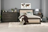 Sinclair Grey California King Panel Bed - Room