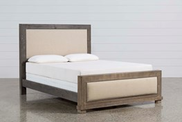 Sinclair Grey Eastern King Panel Bed