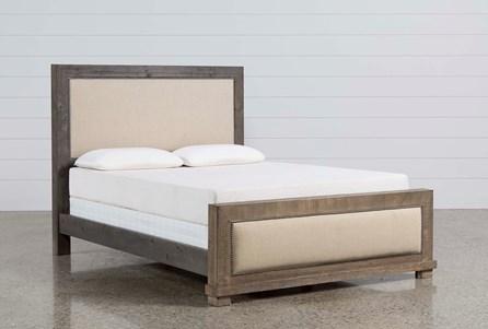 Sinclair Grey Eastern King Panel Bed