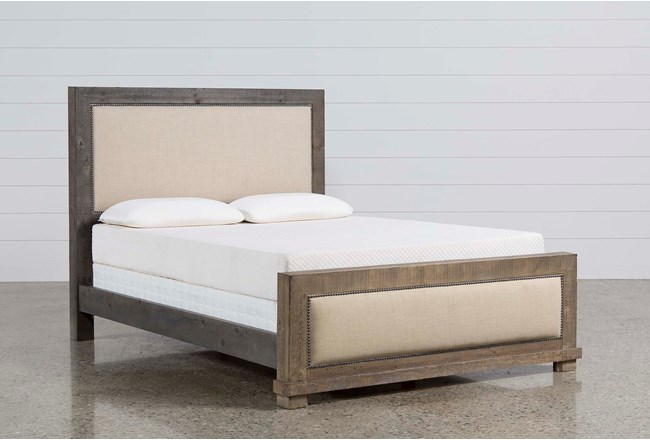 Sinclair Grey Eastern King Panel Bed - 360