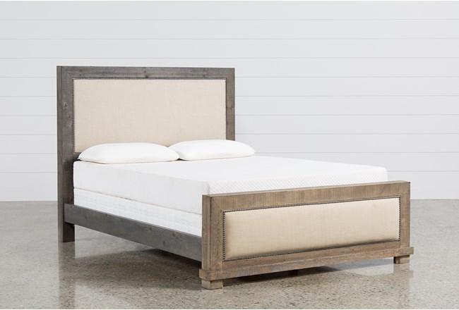 Sinclair Grey Queen Panel Bed 360