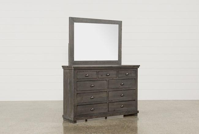 Sinclair Grey Dresser/Mirror - 360