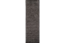 30X96 Rug-Baguette Charcoal