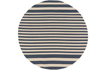 8' Round Rug-Smith Stripe